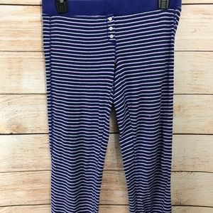 Victoria Secret Small Thermal Blue Striped Pants